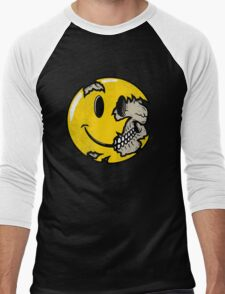 Smiley face skull Men's Baseball ¾ T-Shirt