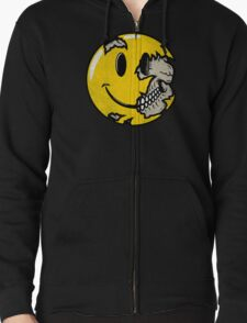 Smiley face skull Zipped Hoodie