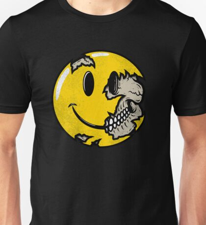 Smiley face skull Unisex T-Shirt