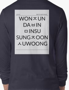 Boys Republic Hangeul List Long Sleeve T-Shirt