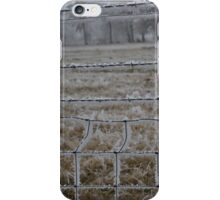 winter fence iPhone Case/Skin