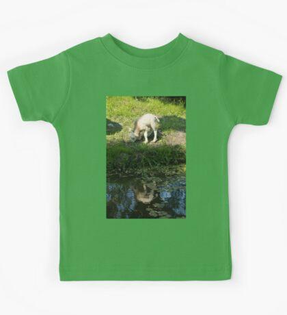 Cute Little Lamb, Reflected Kids Tee