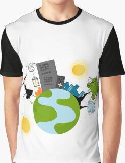 Urban Girl Vector Illustration Graphic T-Shirt