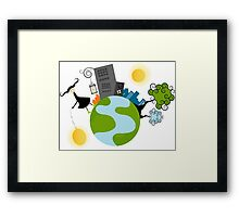 Urban Girl Vector Illustration Framed Print