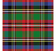 Scottish tartan, red and green, blue and yellow Photographic Print