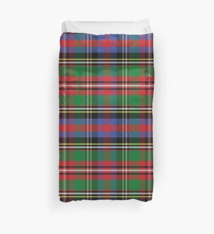 Scottish tartan, red and green, blue and yellow Duvet Cover
