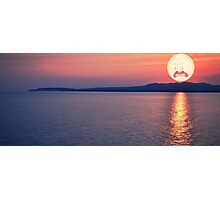 SEA SCREAMING SUNSET RICK AND MORTY Photographic Print