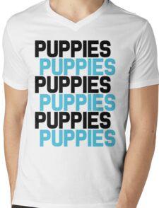 Puppies Overload Mens V-Neck T-Shirt