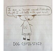 DOG COMIC STRIP - Alexandra Knight Photographic Print