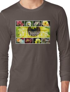 Fancy Flowers Collage Long Sleeve T-Shirt