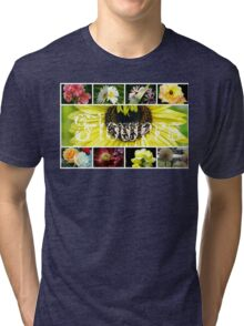 Fancy Flowers Collage Tri-blend T-Shirt