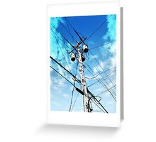 Telephone Pole Greeting Card