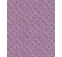 Purple & Yellow Graphic Floral Pattern  Photographic Print