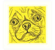 Yellow Pug Art Print