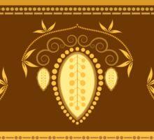 Retro Floral Decor Illustration Sticker