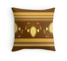 Retro Floral Decor Illustration Throw Pillow