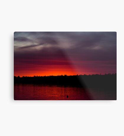 Sunset at the Bay Metal Print