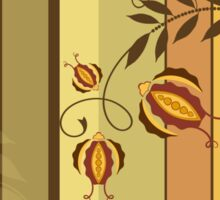 Retro Floral Design Vector Illustration Sticker