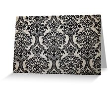 Black and White Damask Merchandise Greeting Card