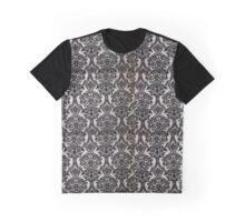 Black and White Damask Merchandise Graphic T-Shirt