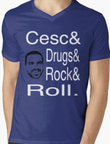 Cesc, Drugs and Rock 'n' Roll Mens V-Neck T-Shirt