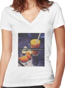 Weak Ass Women's Fitted V-Neck T-Shirt