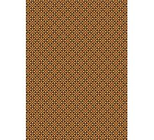 Brown Abstract Floral Graphic Pattern  Photographic Print