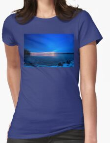 Near Winter Solstice Sunrise (HDR) Womens Fitted T-Shirt
