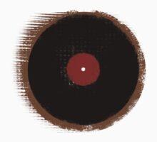 Grunge Vinyl Record Vintage T-Shirt One Piece - Short Sleeve