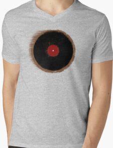 Grunge Vinyl Record Vintage T-Shirt Mens V-Neck T-Shirt