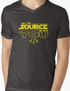 May the Source be with You Mens V-Neck T-Shirt