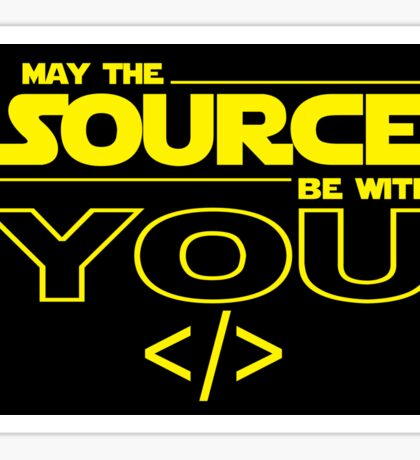 May the Source be with You Sticker