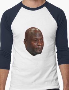 CRYING JORDAN Men's Baseball ¾ T-Shirt
