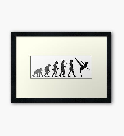 Funny Ballet Evolution Framed Print