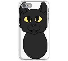 Black Cat Cartoon Headshot iPhone Case/Skin