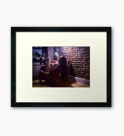 Heels and Smoke Framed Print