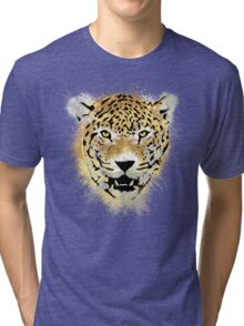 Tiger - Paint Splatters Dubs - Distressed Design Tri-blend T-Shirt