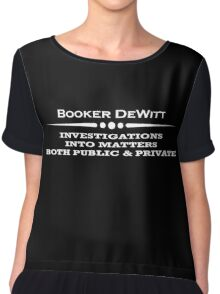 BioShock Infinite – Booker DeWitt, Private Investigator (White) Chiffon Top
