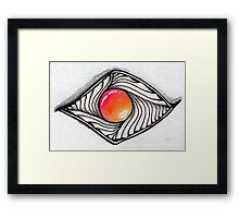 Doodled Gem Sparkle Eye Framed Print
