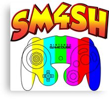 Smash 4 with Gamecube Controller Canvas Print