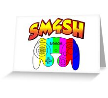 Smash 4 with Gamecube Controller Greeting Card