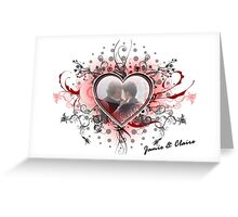 Jamie & Claire Fraser heart Greeting Card