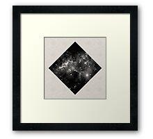Space Diamond - Abstract, Geometric Space Scene Framed Print
