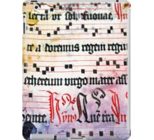 Choral Book Middle Ages - Music Vintage iPad Case/Skin