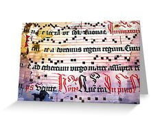 Choral Book Middle Ages - Music Vintage Art Prints Grunge Texture Greeting Card