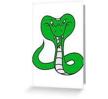 cobra poisonous dangerous cool design evil snake bite Greeting Card