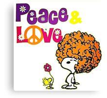 snoopy peace & love Canvas Print