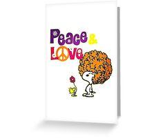 snoopy peace & love Greeting Card