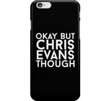 Chris Evans - White Text iPhone Case/Skin
