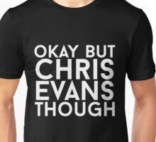 Chris Evans - White Text Unisex T-Shirt